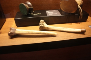 Tibetan rkang-gling flutes. I wonder what they use the other bones for?