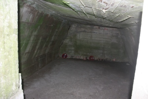 Inside the dressing station at Essex Farm.