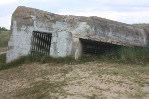 One of several German bunkers that still remain on Juno Beach.