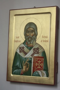 One of the icons in the church.