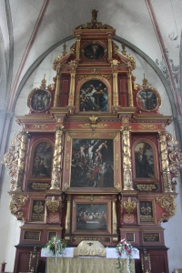The altar at the back of the Marienkirche in Lippstadt, Germany.