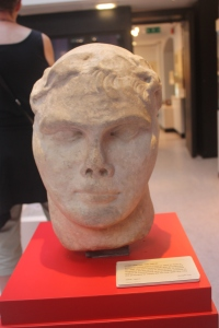 Bust of Emperor Constantine, on display in the Yorkshire Museum.