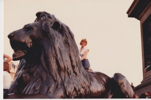Scrambling up the bronze lion at the base of Nelson's Column was easy in 1981.