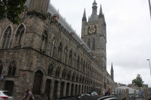The Cloth Hall is the centerpiece of the rebuilt city of Ypres.