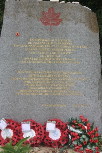 A memorial to fallen Canadians.