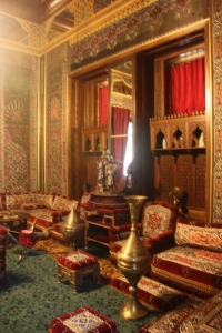 If I remember correctly this was the Queen's smoking room.