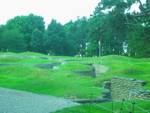 The trench system at Vimy Ridge.