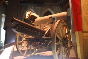 Horse drawn cannon were used to  hurl millions of shells on Flanders' fields.