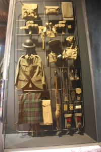 Complete kit for a Canadian soldier from the Montreal-based Black Watch regiment.