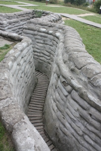 A portion of Yorkshire Trench - which was closed to the public when we were there because part of it had collapsed.