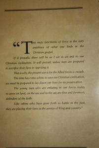 King's words on display.