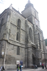 The exterior of The Black Church, so called due to fire damage. I was surprised to discover that it was a Lutheran church.