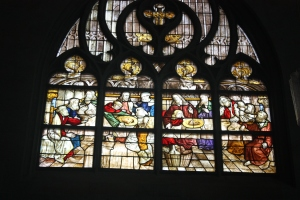 St. Maria zur Weis Church, Soest - the stained glass window known as The Westphalian Last Supper.