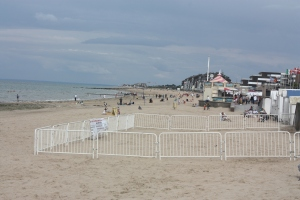 The beach at Courseulles-sur-mer would have looked very different on D-day, June 6, 1944.