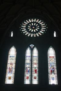 The rose window.