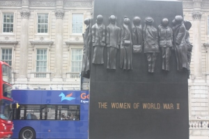 This memorial to the women of the Second World War was a couple of blocks from the river bank.