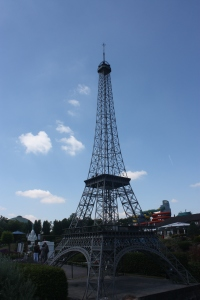 A ten foot tall version of the Eiffel Tower fails to inspire when you are close to it, but if you didn't realize it was a model you might be impressed.