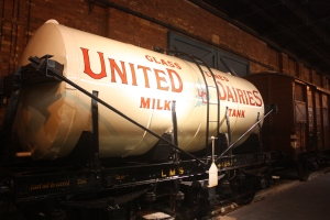 Milk tank cars like this one were in use from the 1930s to 1960s.