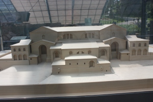 A reconstruction of what the facility is thought to have looked like in Roman times.