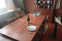 The kitchen was a much simpler place to eat than the dining room!
