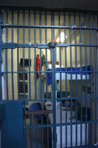 A typical cell. This one is furnished for the tourists - the rest of them are empty.