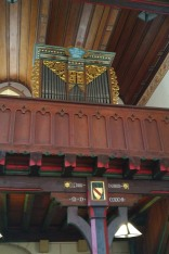 The organ at the church in St. Ilgen.